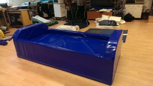 bed bank, helemaal polyether schuim