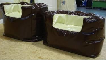 zitzakstoel, in veel verschillende maten